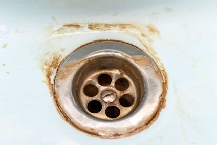rust in sink stains